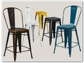 Distressed Colored Barstools