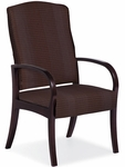 Dixon 300 lb. Capacity High Back Guest Chair - Vinyl Upholstery [DX10H-V-FS-LZBF]