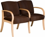 Dixon Two Seater Guest Chair - Leather Upholstery [DX20-LEA-FS-LZBF]