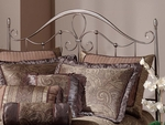 Doheny Metal Headboard with Rails - Full or Queen - Antique Pewter [1383HFQR-FS-HILL]