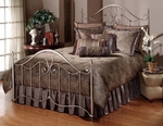 Doheny Metal Bed Set with Rails - Queen - Antique Pewter [1383BQR-FS-HILL]