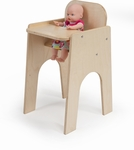 Birch Laminate Doll High Chair in Natural UV Finish [WB1229-FS-WBR]
