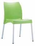 Domenica Lightweight Stackable Side Chair with Aluminum Legs - Green [049-3853-ATC]