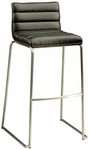 Dominica 30''H Barstool - Walnut Veneer Back and Black Polyurethane Seat [DM-210-30-SS-WA-979-FS-PSTL]