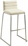Dominica 30''H Barstool - White Veneer Back and Ivory Polyurethane Seat [QLDM21022197867-FS-PSTL]