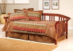 Dorchester Wood Daybed Set with Suspension Deck - Brown Cherry [287DBLH-FS-HILL]