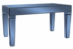 Dorset Cobalt Blue Mirrored Coffee Table [11175-FS-HEC]