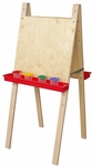 Double Adjustable Easels with Solid Maple Legs - 20''W x 24''D x 48''H [19000-WDD]