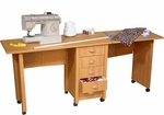 Double Folding Mobile Desk & Craft Center [1019-FS-VH]