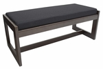 Belcino 19''H Backless Double Seat Bench with Mocha Walnut Wood Finish - Black [BBNCH2148MWBK-FS-REG]