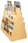 Birch Double Sided Mobile Book Display with Five Easy Reach Shelves on Each Side [ELR-0335-ECR]