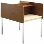 Fixed Height Double Sided Starter Study Carrel - 36''W x 46''H [01627-SCI]