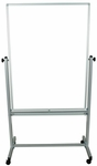 47''H Aluminum Frame Double Sided Magnetic Mobile White Board [MB3648WW-FS-LUX]