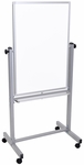 57''H Aluminum Frame Double Sided Magnetic Mobile White Board [L270-FS-LUX]
