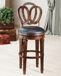 Dover Counter Stool - Black Leather [62967-FS-HILL]