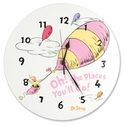 Dr. Seuss Oh the Places You'll Go Wall Clock - Pink