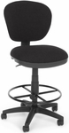 Lite Use Computer Task Chair with Drafting Kit - Black [150-DK-126-FS-MFO]