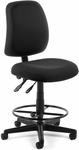 Posture Adjustable Height Task Chair with Drafting Kit - Black [118-2-DK-805-FS-MFO]