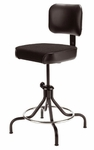 Drafting Stool with Spring Back and 4-Legged Base [D41L-4LB-FS-UC]