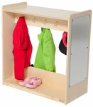 Dress Up Center with 5 Double Hooks on Each Side and Acrylic Safety Mirror - Assembled - 30''W x 15''D x 30''H [91175-WDD]