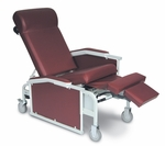 Drop Arm Convalescent Recliner 3 Positions - No Tray [5281-FS-WIN]
