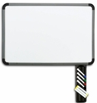 Ingenuity 24'' W x 36'' H Dry Erase Board with Caddy - Charcoal Frame [37037-ICE]