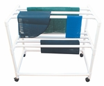 Mobile Drying Rack with 7 Drying Racks and Casters - 31''W X 53''D X 48''H [3DR-MJM]