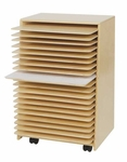 Healthy Kids Plywood Drying and Storage Unit with Safety Rounded Corners and Edges - Assembled - 20''W x 15.5''D x 30''H [99332-WDD]