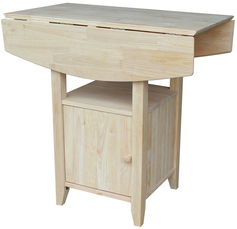 Solid Wood 38 W X 36 H Dual Drop Leaf Counter Height