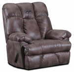 Duck Commander Rustic Style Polyester Blend 3 Position Rocker Recliner - Padre Mocha [20R26DC-PM-FS-CHEL]