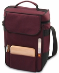 Duet Wine and Cheese Tote - Burgundy [623-04-118-000-0-FS-PNT]