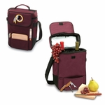 Duet Wine And Cheese Tote - Burgundy Washington Redskins Digital Print [623-04-118-324-2-FS-PNT]
