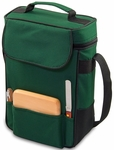 Duet Wine and Cheese Tote - Hunter Green [623-04-121-000-0-FS-PNT]