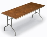 E Series Rectangular Plywood Core Folding Table - 30''W x 48''L x 30''H [430E-MFT]