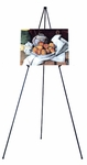 E-Z Instant Set-Up Fold-A-Way Durable Steel Frame 61.5''H Presentation Easel - Black [12102-FS-SDI]