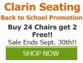 Buy 24 Chairs, Get 2 Free from Clarin Seating!!