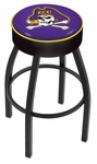 East Carolina University 25'' Black Wrinkle Finish Swivel Backless Counter Height Stool with 4'' Thick Seat [L8B125ECAROL-FS-HOB]