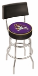 East Carolina University 25'' Chrome Finish Swivel Counter Height Stool with Double Ring Base [L7C425ECAROL-FS-HOB]