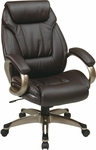 Work Smart ECH30621 Executive Eco Leather Chair with Padded Arms and Coated Base - Espresso [ECH30621-EC1-FS-OS]