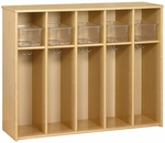 Eco ™ Toddler Size 5 Compartment Locker with 5 Bins Included [3061A73-TOT]