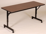 Adjustable Height Rectangular EconoLine Melamine Flip Top Table - 24''D x 48''W [FT2448M-CRL]