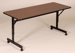 Adjustable Height Rectangular EconoLine Melamine Flip Top Table - 24''D x 72''W [FT2472M-CRL]