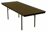 Customizable Economy 120 Series Fixed Height General Use Table - 18''W x 60''D x 30''H [120-P-BKS]