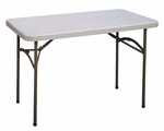 Economy Blow-Molded Rectangular Plastic Top Folding Table - 48''D x 24''W [CP2448-33-CRL]