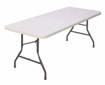 Economy Blow-Molded Rectangular Plastic Top Folding Table - 60''D x 30''W [CP3060-33-CRL]
