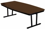 Customizable Rectangular or Boat-Shaped Economy Conference Table - 30''H [ECT306-BKS]