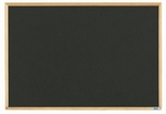 Economy Series Black Composition Chalkboard with Wood Frame - 24''H x 36''W [EC2436B-AA]