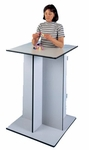 Economy Stand-In Table with Adjustable Platform - 30''W X 30''L X 45''H [HAU-6125-FS-HAUS]