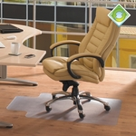 48''W x 60''L Ecotex 100% Post Consumer Recycled Lipped shape Chairmat for Hard Floors Size [ECO4860LP-FS-FTX]