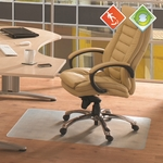 36''W x 48''L Ecotex 100% Post Consumer Recycled Rectangular Anti-Slip Chairmat for Hard Floors [ECO3648AEP-FS-FTX]